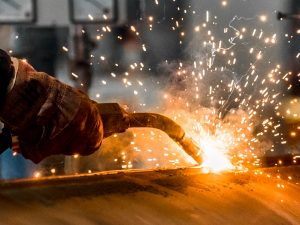 welding equipment and sparks